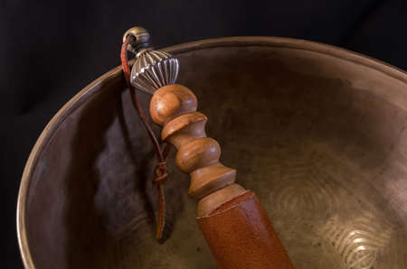 Bell used during buddhist prayers and also in alternative medicine Stock Photo - 25817884