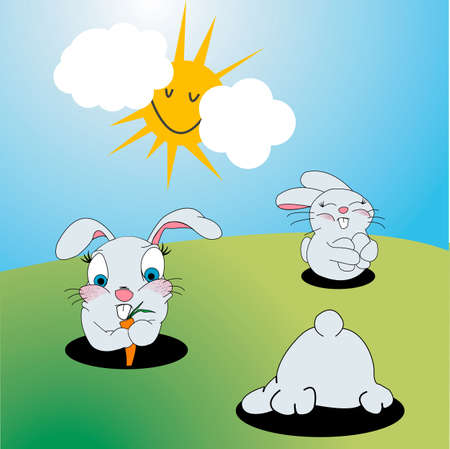 Bunnies cartoon photo