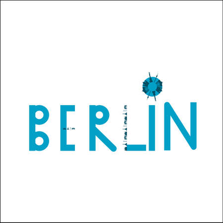 Berlin Blue Logo with Buildings photo