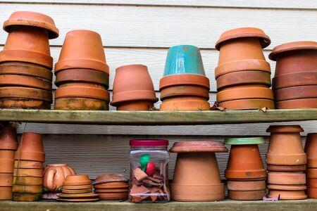 Flowering pots Stock Photo - 43406211