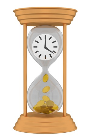 Time is money. Concept of value of time, investment, saving money Stock Photo