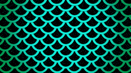 Fish scales bright cells pattern marine background horizontal 3D illustration