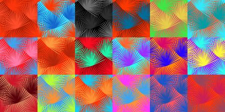 Branch of a palm seamless pattern. Vivid colorful summer vector set of print backgrounds. Trendy collection for design for clothes