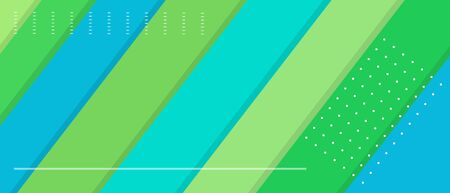 Blue green web banner with diagonal lines and copy space. Vector illustration template Ilustração