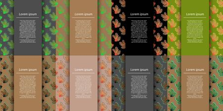 Collection of colorful elegant greeting cards with abstract butterflies and copy space for any text. Stylish vector collection for special events