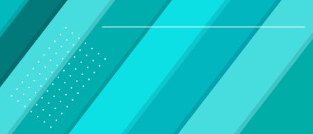 Blue azure web banner with diagonal lines and copy space. Vector illustration template