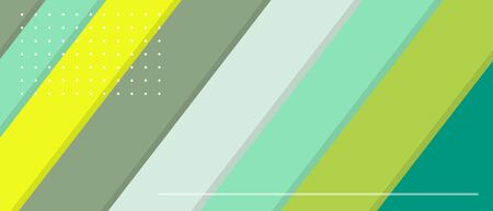 Green yellow web banner with diagonal lines and copy space. Vector illustration template