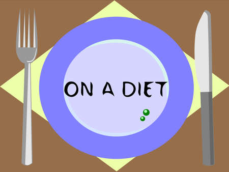 those: An ordinary meal of those on a diet