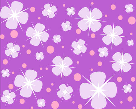 petal: A background with four petal flowers and circles