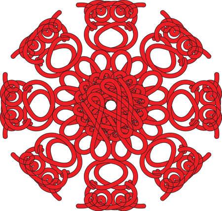 etno: vintage round pattern. Decorative retro isolated. Invitation, t-shirt print, wedding card, scrapbooking.