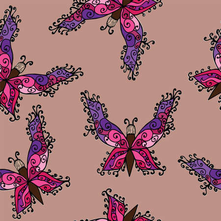batterfly: Batterfly seamless pattern color. For greeting, invitation and other card.
