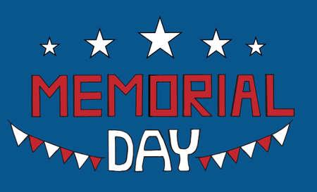tarjeta de felicitación del día conmemorativo con la estrella en el fondo azul.