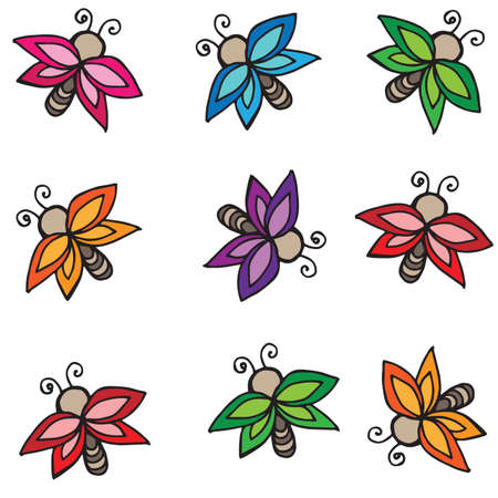 batterfly: Different  color butterflies isolated on white. Butterfly set for gift card, greeting card, invitation, posters, texture backgrounds, placards, banners, other decoration.