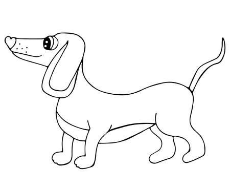 Diseño De Zendoodle Del Perrito Del Dachshund Para El Libro Para ...