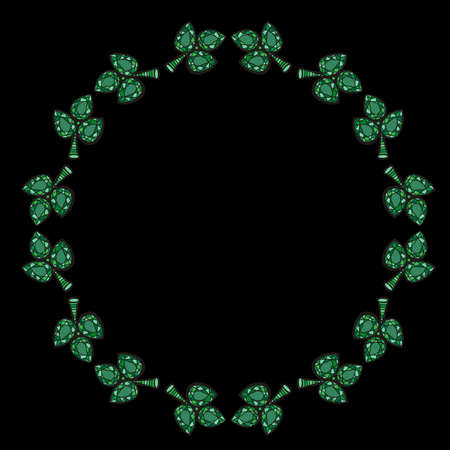 Round frame crystal gems backgrounds. Mosaic wreath background in jewelry style. Jewels frame pattern. 版權商用圖片 - 101969278