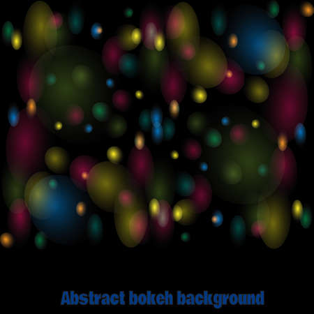Abstract bokeh vector colorful background. Christmas lights. Abstract lighting background. Illustration