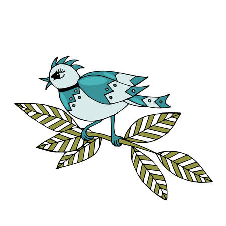 Cartoon colorful bird for different card or pages. Sweet bird. Bird colorful. Ilustrace