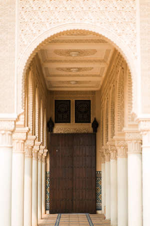 Middle east or Moroccan architecture traditional design Standard-Bild - 130832351