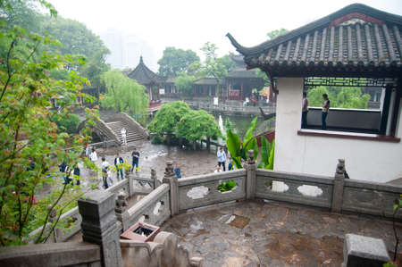 wuhan, China - April 22, 2019: The Yellow Crane Tower tourist attraction area with scenic view. Editorial