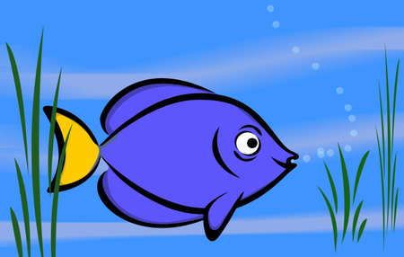 game fish: Vector clip-art  isolated illustration for your design (background) Stock Photo