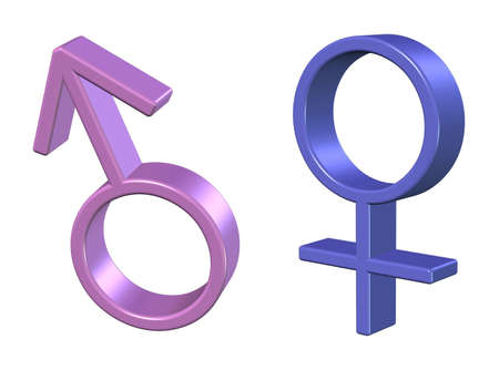 human gender: , illustration icons of men and women Stock Photo