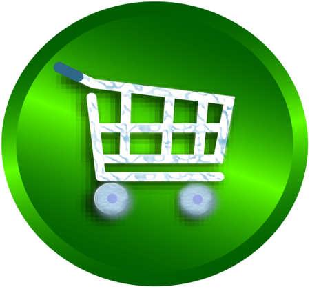 shopping cart , vector version Stock Vector - 4522523