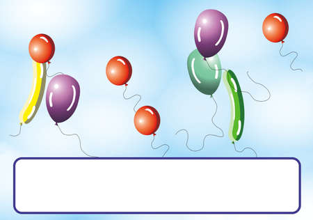 Party atmosphere, balloons, conffeti and stars Stock Photo