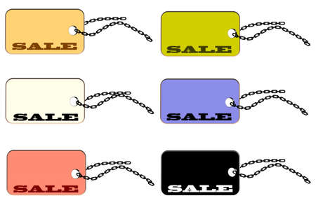 luggage pieces: sale price tag