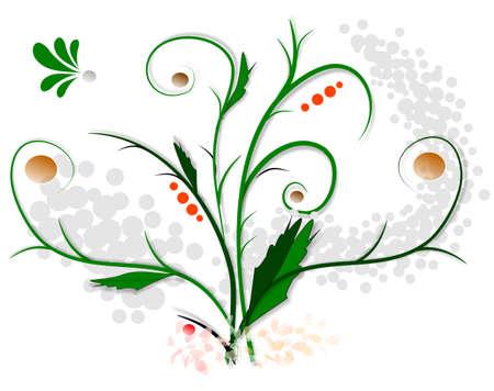 Scroll, illustrations backround floral, version colors Stock Illustration - 4522527