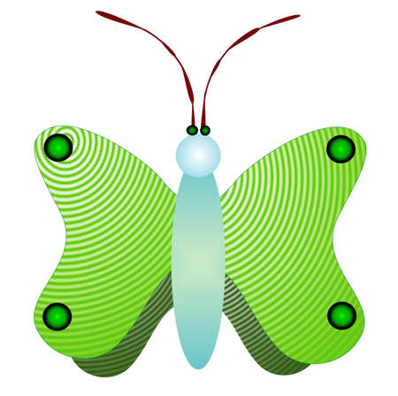 lepidopteran:  background with colors butterfly, green