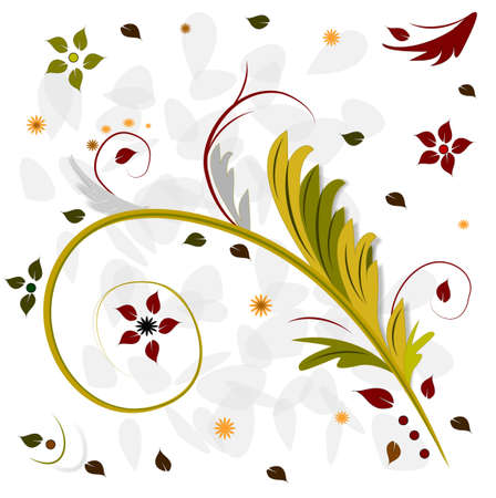 yellov: Colors Flower White Background with wave pattern, elements for design Stock Photo