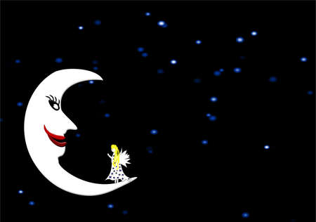 folk tale: night background Stock Photo