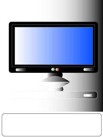 Illustrations one Plasma TV, LCD , place for your text Stock Photo