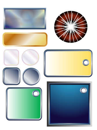 collection  buttons, frames for text, objects white isolated Stock Photo - 4840944