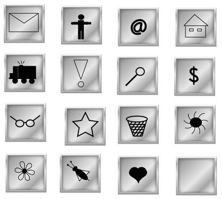 symbols collection, objects white isolated Stock Photo - 4840949