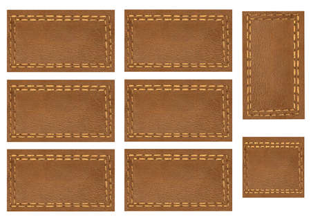 Background, brown illustration price Tags,Scrapbook, page with objects white isolated Stock Photo
