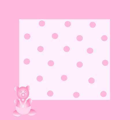 Pink photo frame for girl