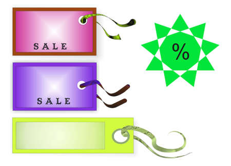 colors price tags, place for text Stock Photo - 4957864