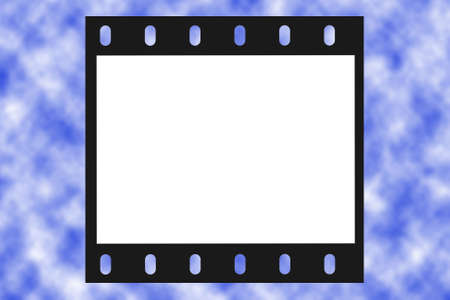 film frame, white place for photo and text, sky background photo