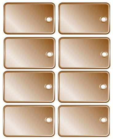 Sepia set price tags, frame for text Stock Photo - 5048733