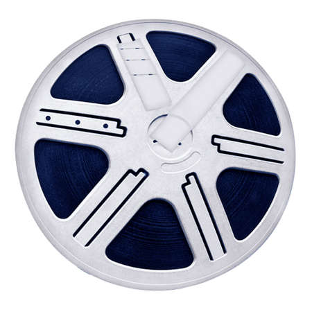 Round Reel Film, object texture, white isolated photo