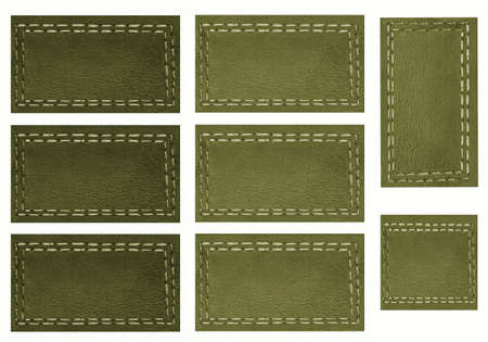 suture: Background, green price Tags,Scrapbook, page with objects white isolated