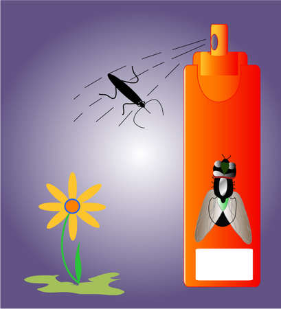 borreliosis: insecticide insects  and repellent, health precaution , background, white place for text