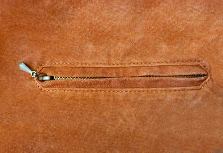leather jacket with zipper photo
