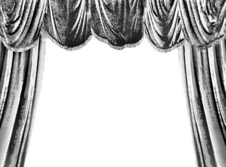 Black theater curtain, white place for your text