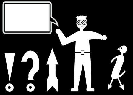 point d interrogation: Arri�re-plans en noir et blanc, symboles Banque d'images