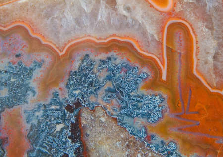 agate in the crystal, macro detail of mineral for your free cut