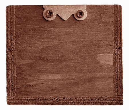 retro blank photo-frame, red color wooden background photo