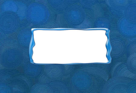 Blue  spirals background, white frame for your text Stock Photo - 5492324