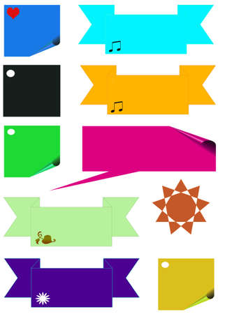 Sticky set with symbols, buttons , frames for text Stock Photo - 5520333